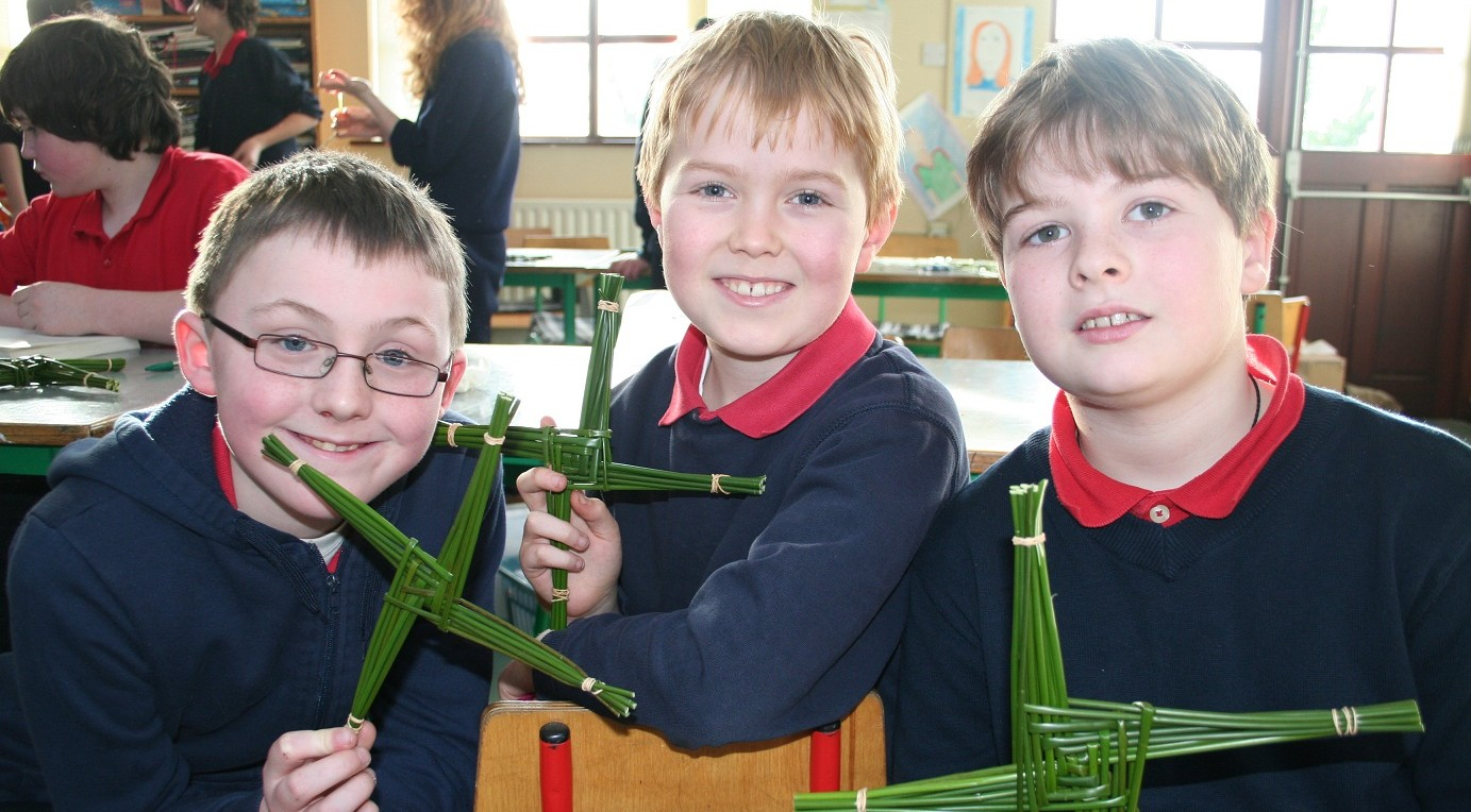 St. Brigid's Cross Making Workshops for School Children