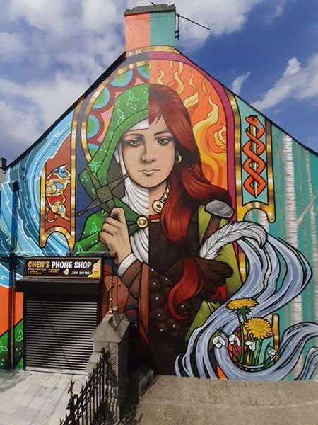 Brigid of Faughart Mural