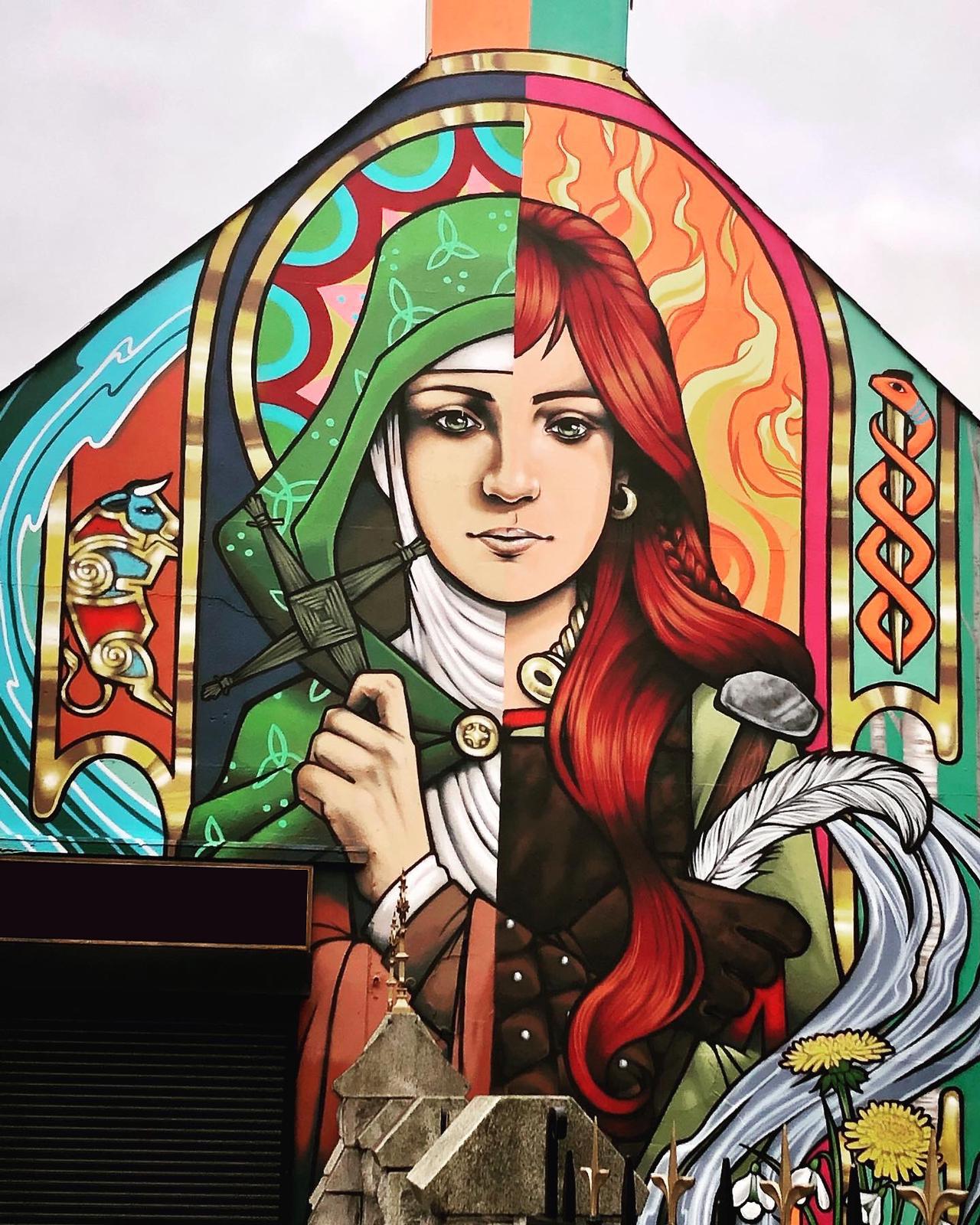 Brigid of Faughart Mural